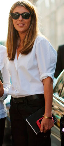 nina garcía camisa blanca